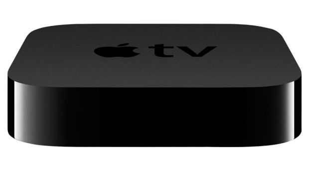 The Apple TV set-top box broadcasts high-definition content and can be paired with your Apple devices.