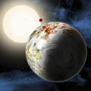 'Godzilla of Earths': The newly discovered Kepler-10c dominates the foreground in this artist's conception. Its sibling, ...