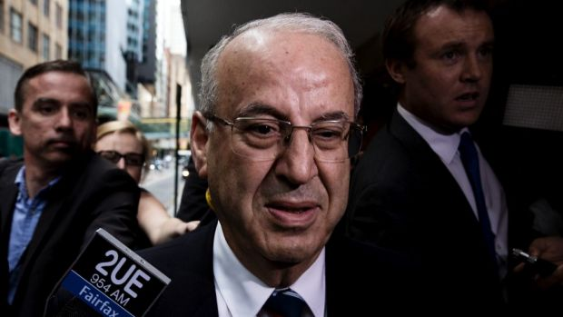 Eddie Obeid, found to have acted corruptly in lobbying colleagues for favourable outcomes for his Circular Quay cafes.