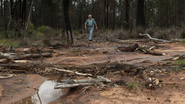 Site of a suspected spill at one of Santos's CSG site.