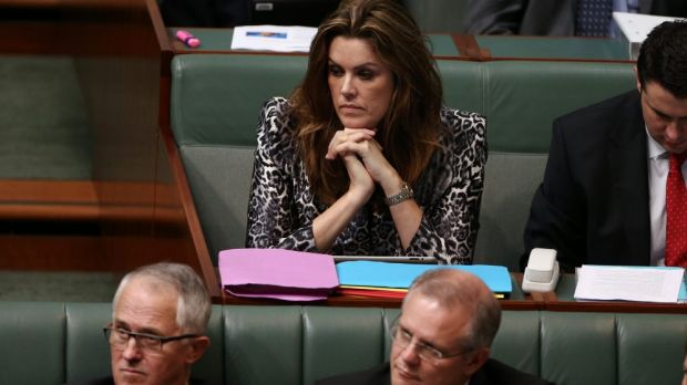 Peta Credlin, chief of staff to Prime Minister Tony Abbott, during Question Time.