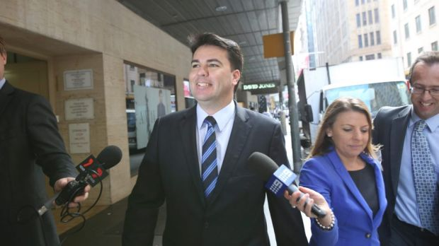Darren Webber enters ICAC to give evidence.