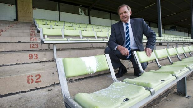Queanbeyan Mayor Tim Overall is disappointed by the damage to Sieffert Oval by vandals.