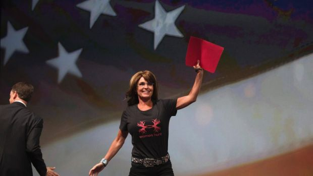 Sarah Palin, the former governor of Alaska, and icon of America's far-right.