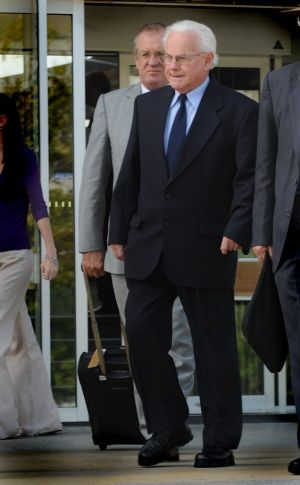 Marist Brother John Chute, also known as Brother Kostka, leaves the ACT Supreme Court in 2008.