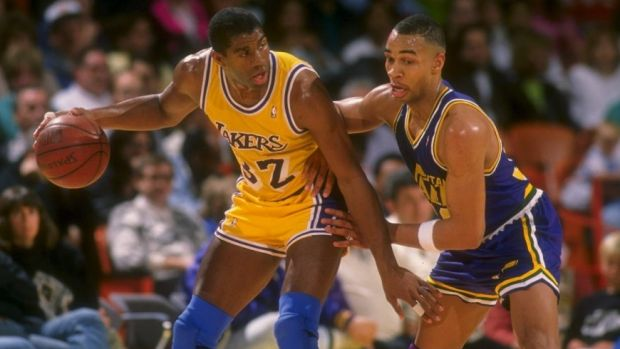 Top dog: Magic Johnson was the most crucial cog in the Lakers' Showtime machine.