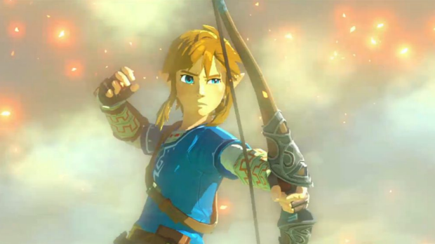 Link fires an arrow in the new-look <i>Legend of Zelda for Wii U</i>.