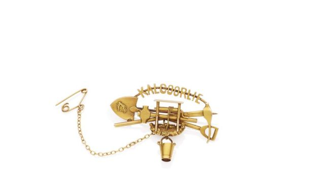 Valuable: This 1890s-era Kalgoorlie goldfields miners brooch sold for $16,470 in an auction last month.