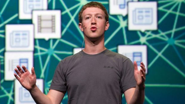 Facebook chief executive officer Mark Zuckerberg.