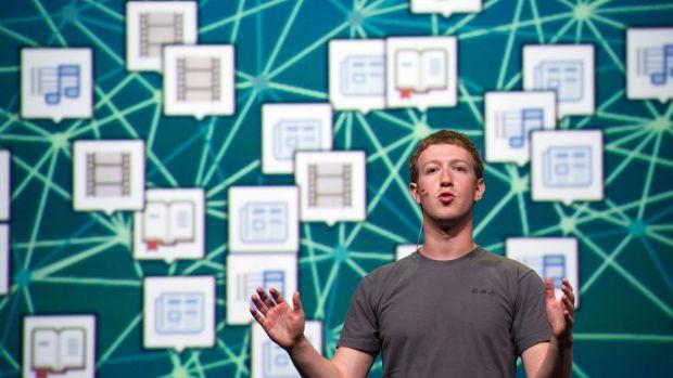Facebook chief executive officer Mark Zuckerberg.
