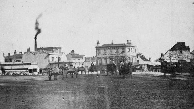 In the past: Broadway circa 1870-1872.