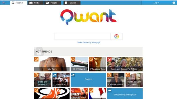 Privacy first: Paris-based search company Qwant.