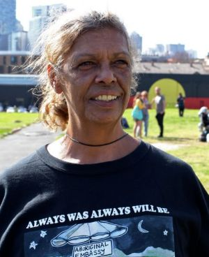 A community rallying against their own: Tent embassy organister Jenny Munro.