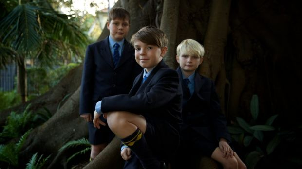 On the move: Alfie, Sam and Joseph from Waverley College jumped in at year 5.