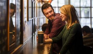Andrew Deakins and Anna Trundle from Turner enjoy a Stout at the Wig & Pen.