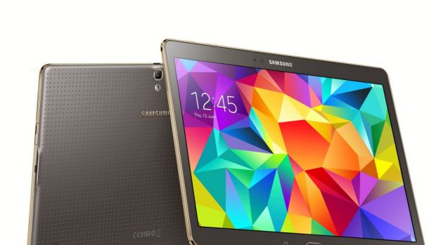 Exceptional: The 10.5-inch Galaxy Tab S in bronze.
