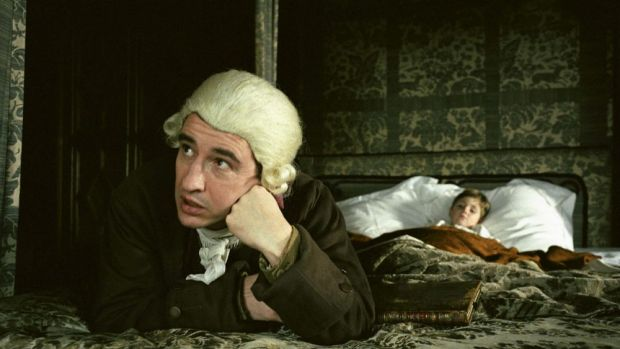 Flummoxed: Steve Coogan as Tristram Shandy in Michael Winterbottom's version of the unfilmable novel.