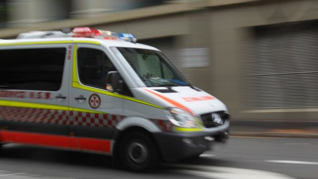 An ambulance woman was taken to hospital after being assaulted by a patient she was treating.