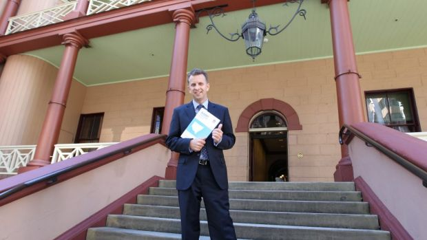 State treasurer Andrew Constance delivers his budget.