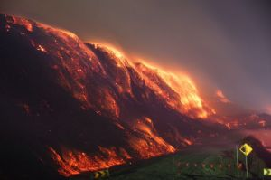 The fire at Hazelwood was difficult to fight.