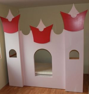A standard kid's flat-pack bed becomes a whimsical work of art.