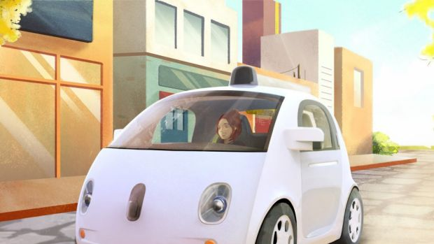An artist's impression of a prototype Google self-driving car. Google X is building a few hundred self-driving cars that ...