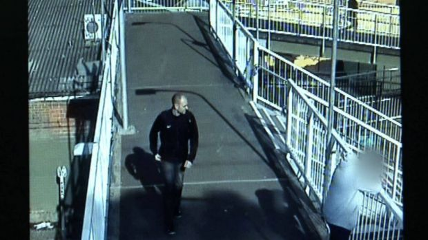 A still from CCTV of the man wanted for questioning.