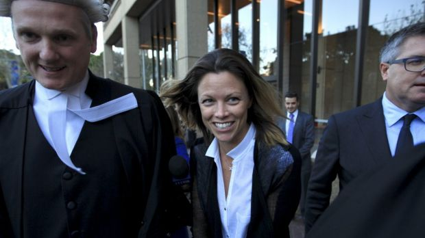 Bianca Rinehart outside the NSW Supreme Court in Sydney on Tuesday.