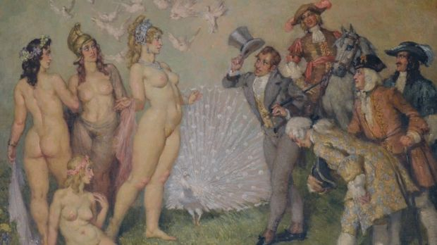 Main attraction: Norman Lindsay's The Introduction is among the paintings up for auction in the Bill and Eileen Cammack ...