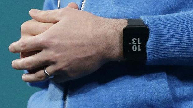 David Singleton, Android director of engineering, wears an LG Android Wear watch.