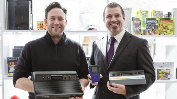 Civic Computers store manager Nat Jones and technician Mathew Nicol.
