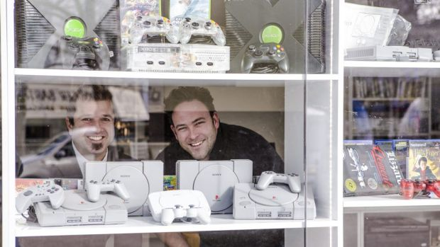 Civic Computers store manager Nat Jones (right) and technician Mathew Nicol.
