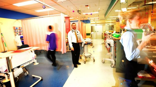 The emergency department at Calvary Hospital.