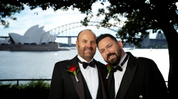 They are the first same-sex couple to marry in Australia under British law.