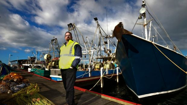 Lakes Entrance Fishermen's  Co-op's  Dale Sumner said high winds and  waves had kept  trawlers in port.
