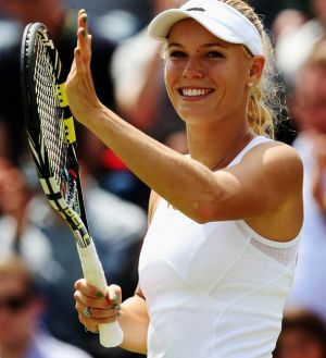 Caroline Wozniacki says the crowd support for her has been amazing.
