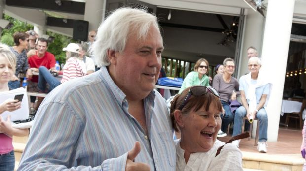 Clive Palmer was a popular man at the Fairfax Festival at his Palmer Coolum Resort.