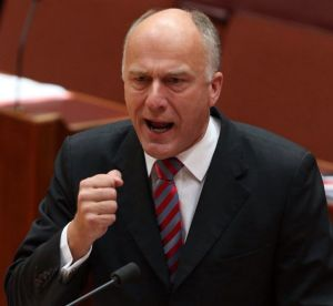 "Senator Eric Abetz says union pay claims are ""neither responsible nor realistic""."