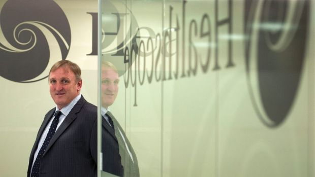 Healthscope CEO Robert Cooke is believed to have met with several possible  strategic buyers of the PE stake.