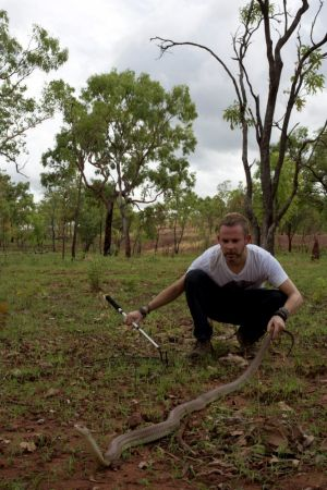 Snakes and bladders: Dominic Monaghan admits his encounters with dangerous animals tap into some of his deepest fears.