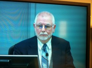 Former Marist Brothers school teacher and convicted paedophile Gregory Sutton appears at the Royal Commission into ...