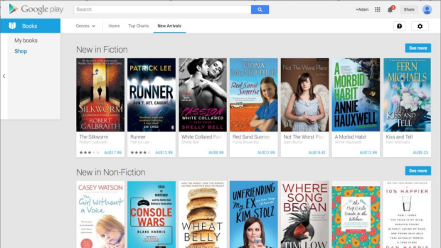 Google Play's e-book store.