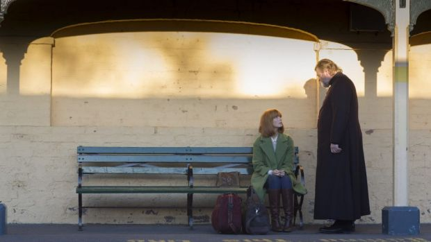 Brendan Gleeson and Kelly Reilly in Calvary