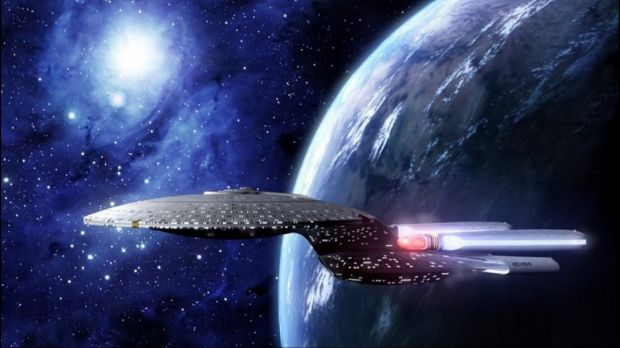The greatest Star Trek technology of all: The Starship Enterprise.
