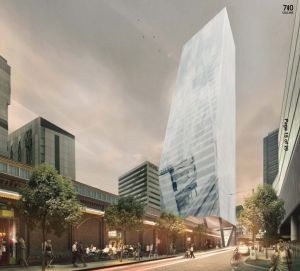 The proposed building at 710 Collins Street, Docklands.