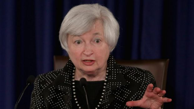 US Federal Reserve chair Janet Yellen.