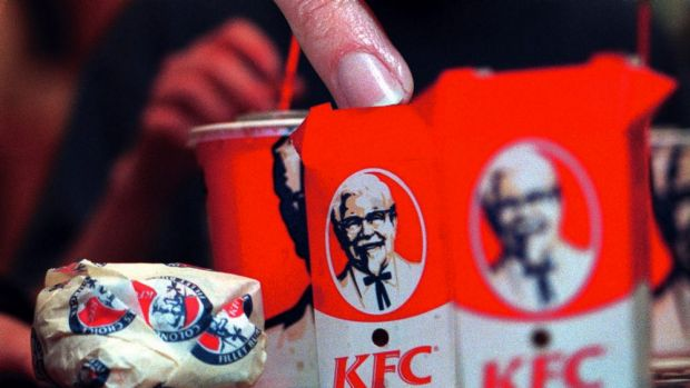 Same-store KFC sales rose 3 per cent.