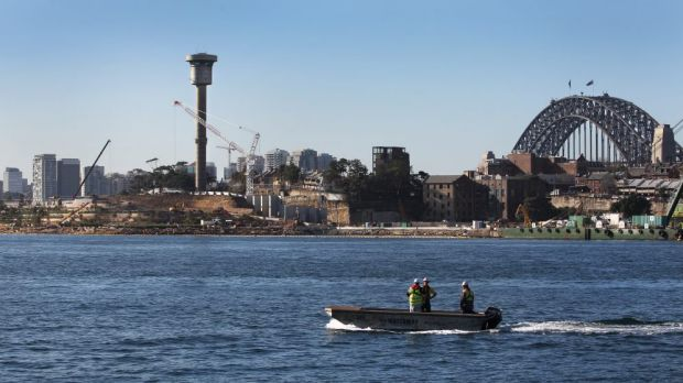 Going down: the harbour control tower at Barangaroo is slated for demolition.