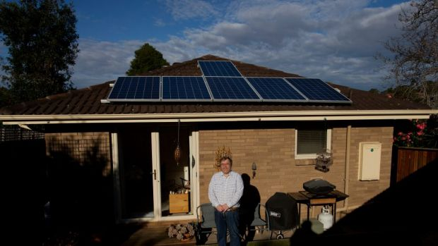 Keith Armstrong believes that installing solar panels on his house will cut his electricity bills in half.