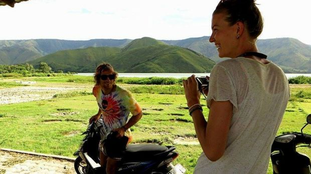 Jake Drage was jailed in West Java after a fatal motorbike crash.